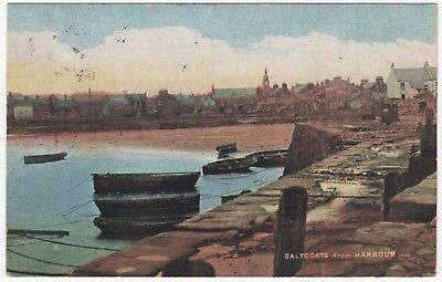 Saltcoats from Harbour   Posted 1906  10710