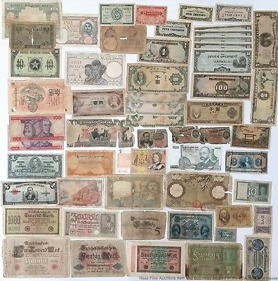 Huge 56pcs Vintage Foreign Currency Banknote Bill Collection Asia Europe America