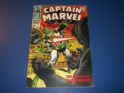 Captain Marvel #7 Silver Age Solid VG/F