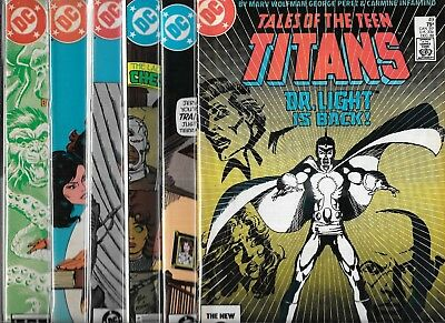 Tales Of The New Teen Titans Lot Of 6 - #49 #51 #52 #53 #54 #55 (Nm-) Copper Age