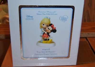 DISNEY / Precious Moments porcelain *YOU ARE A CLASSIC!*  Minnie Mouse 109008