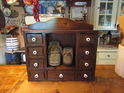 Beautiful Vintage Apothecary/spice Cabinet - Large - 9 Drawers