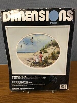 NEW Dimensions Summer By The Sea Crewel Kit #1392 Factory Sealed