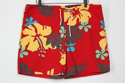 vintage Dr Beach floral shorts 37 to 38 trunks 80's 90's swim cotton made in usa