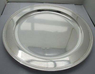 Tiffany & Co. Midcentury Modern Round Sterling Silver Serving Tray 13""