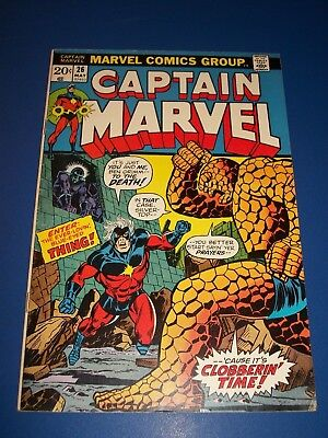 Captain Marvel #26 Bronze Age Starlin Art Key issue 1st Thanos on Cover Wow