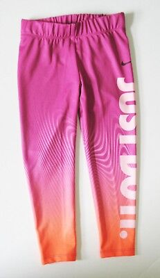 Nike Little Girls Dri-FIT Sport Essentials Leggings Active Pink Sz 4 - NWT