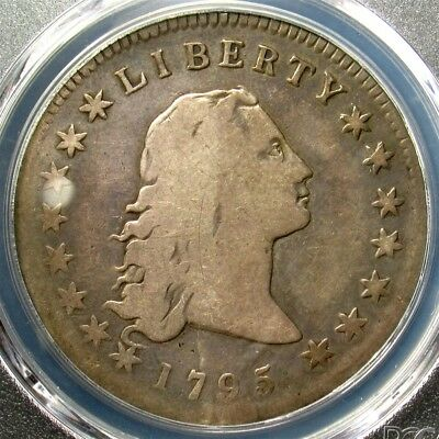 1795 Flowing Hair Dollar, 3 Leaves - PCGS VG08 - Certified Graded Early Silver