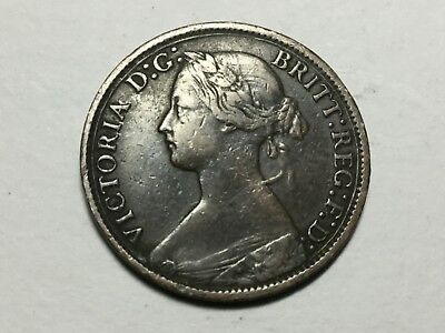 GREAT BRITAIN 1868 farthing coin circulated