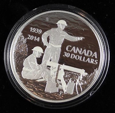 **2014** 75th Anniversary of WWII, Proof Silver $30 Coin