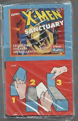 1996 Fleer Skybox Marvel X-Men Sanctuary Sticker FACTORY SEALED BOX -100 PACKS