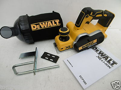 Dewalt Xr 18V Dcp580  Planer Bare Unit + Fence + Dwv9390 Dust Bag