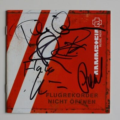 Rammstein signed Reise, Reise CD Autogramm Autograph In Person All Band Members