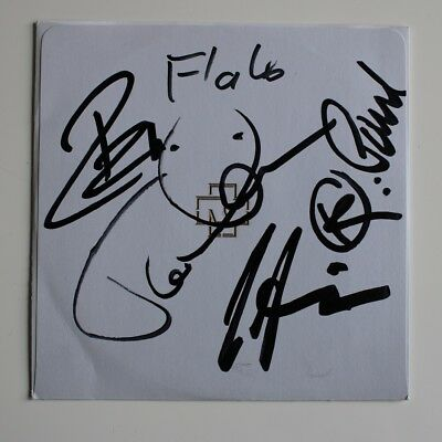 Rammstein signed Made in Germany CD Autogramm Autograph IP All Band Members