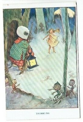 """Mabel Lucie Attwell Postcard """" Thumbelina """" Tuck's Andersen's Fairy Tales Series"""