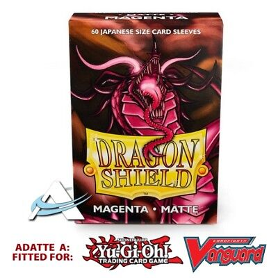 60 Bustine Protettive Mini Japanese Size Sleeves DRAGON SHIELD Matte • Magenta