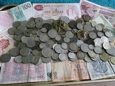 JOB LOT OF OLD COINS AND BANKNOTES 99p 444 D