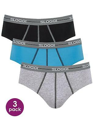 Sloggi Men Start Midi 3 Pack 96% Cotton - 10074004 Mens Midi Briefs by Sloggi