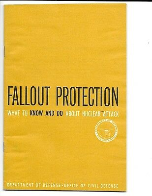 """""""Fallout Protection"""" - 1961 Dept. of Defense booklet - Illustrated."""