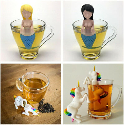 Creative Tea Infuser Silicone Tea Bag Leaf Strainer Herbal Spice Filter Diffuser