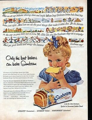 1954 Sunbeam Bread Only The Best Bakers Can Bake Ad