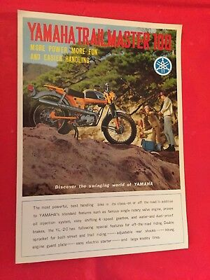 "1967 Yamaha ""Trailmaster 100"" Motorcycle Dealer Sales Brochure"