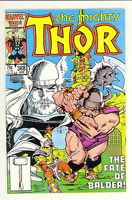 "The Mighty Thor #368 (1986) ~ Marvel Comic Book ~ VF ~ ""The Fate of Balder!"""