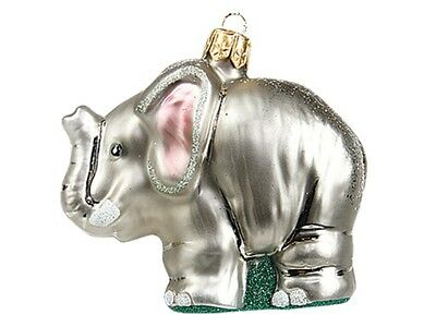 Elephant Polish Mouth Blown Glass Christmas Ornament Tree Decoration