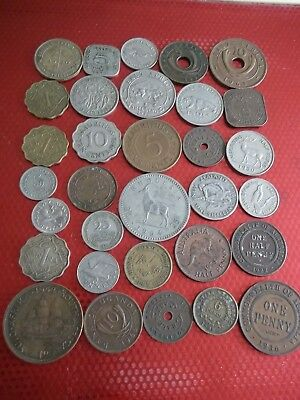GOOD JOB LOT OF OLD BRITISH COMMONWEALTH COINS  99p OBC 7