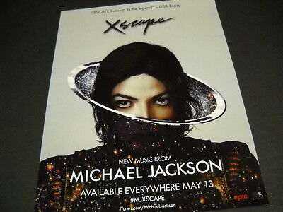 MICHAEL JACKSON 2014 Promo Poster Ad XSCAPE LIVES UP TO THE LEGEND mint cond