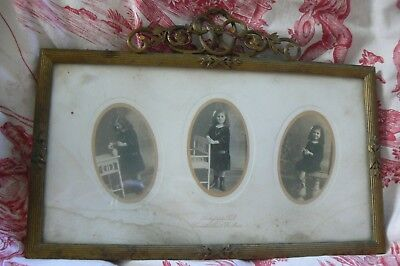 Lovely Quality 19Th C French Bronze Gilt Empire Portrait Picture Easel Frame