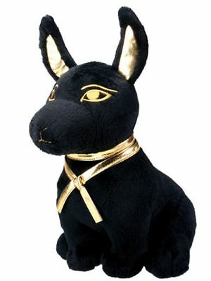 Ancient Egyptian Black and Gold Anubis God of the Afterlife Stuffed Animal Plush