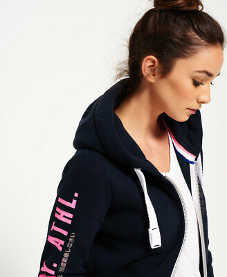 c312a57e4e1 NEW WOMENS SUPERDRY Track   Field Ziphood Eclipse Navy - EUR 28