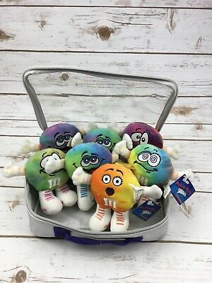 M&M Collectible Mutant Mini Swarmees Plush Set W/Case Set Of 7 1 Tube Stuffed