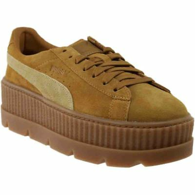 separation shoes 7c435 6474b PUMA FENTY BY Rihanna Suede Cleated Creeper Sneakers - Brown - Womens