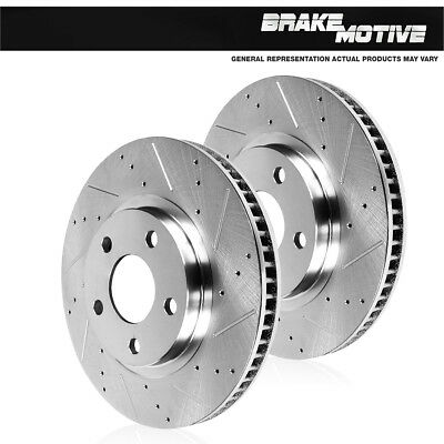 Front Drilled & Slotted Brake Rotors BMW 228 328 F30 335 428 435