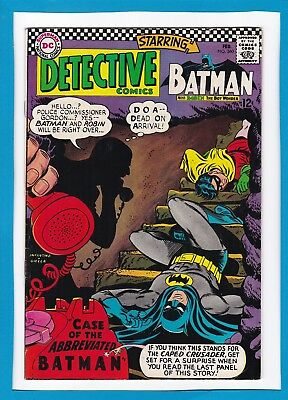 "Detective Comics #360_February 1967_Fine Minus_""case Of The Abbreviated Batman""!"