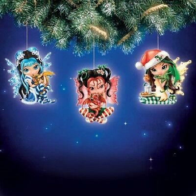 We Wish You A Fairy Christmas Fairy Ornaments Jasmine Becket-Griffith Worldwide