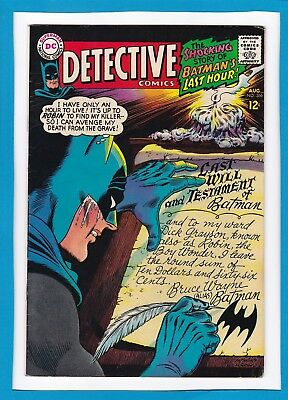 "Detective Comics #366_August 1967_Vf Minus_Batman_Robin_""batman's Last Hour""!"