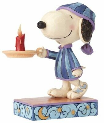 Jim Shore Peanuts Bedtime Beagle Snoopy with Candle Figurine 4055658 New