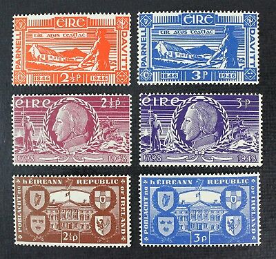 CKStamps: Ireland Stamps Collection Scott#133-136 139 140 Mint NH OG