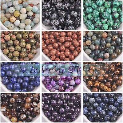 Wholesale 4mm 6mm 8mm 10mm 12mm 14mm Round Natural Stone Gemstone Loose Beads