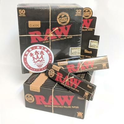 RAW Classic Black King Size Slim Rolling Papers X SMO-KING