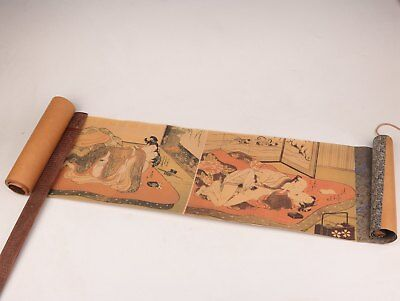 Old Wonderful Scroll Painting Qing Gong Collection  Beauty Bedroom Gifts
