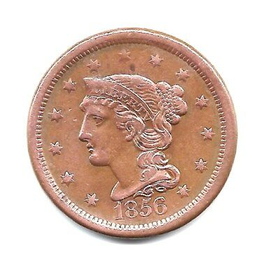 1856  - US Large Cent Braided Hair Good Details  - VERY  NICE