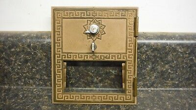 "Vintage Post Office Door Grecian Style. Large. Bronze. 5 1/2"" X 6 1/4"".  Vgc"