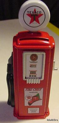 VINTAGE TEXACO FIRE CHIEF STAR GAS PUMP DIME COIN  BANK gasoline red old style