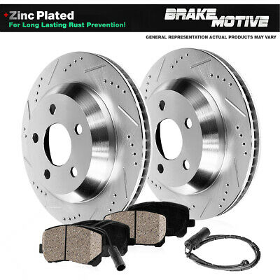 REAR DRILLED SLOTTED BRAKE ROTORS AND CERAMIC PADS 2006 BMW 330i 330xi 335 E90