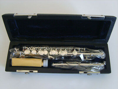 E24 C Key Silver Plated Professional Musical Instrument  Piccolo With Case Bag O