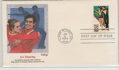 UNITED STATES 1983-4 OLYMPIC FDI Cover Ice Dancing